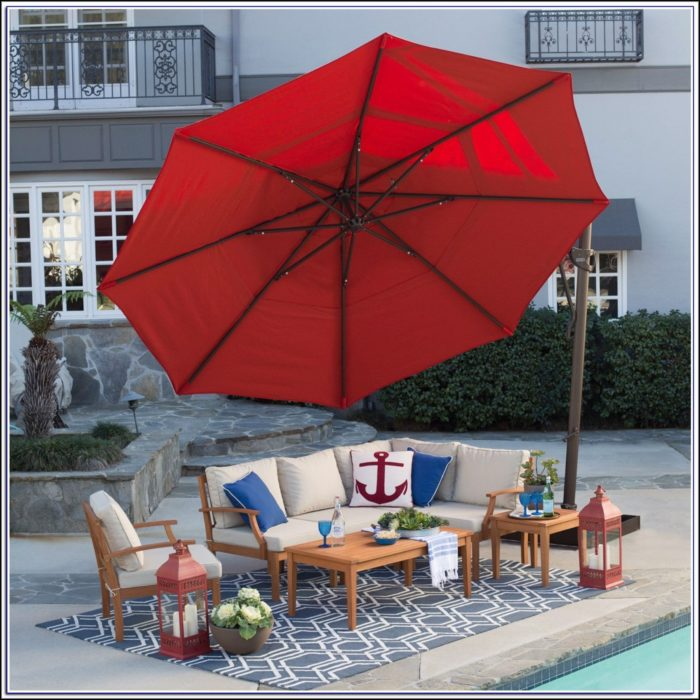 13 Foot Rectangular Patio Umbrella