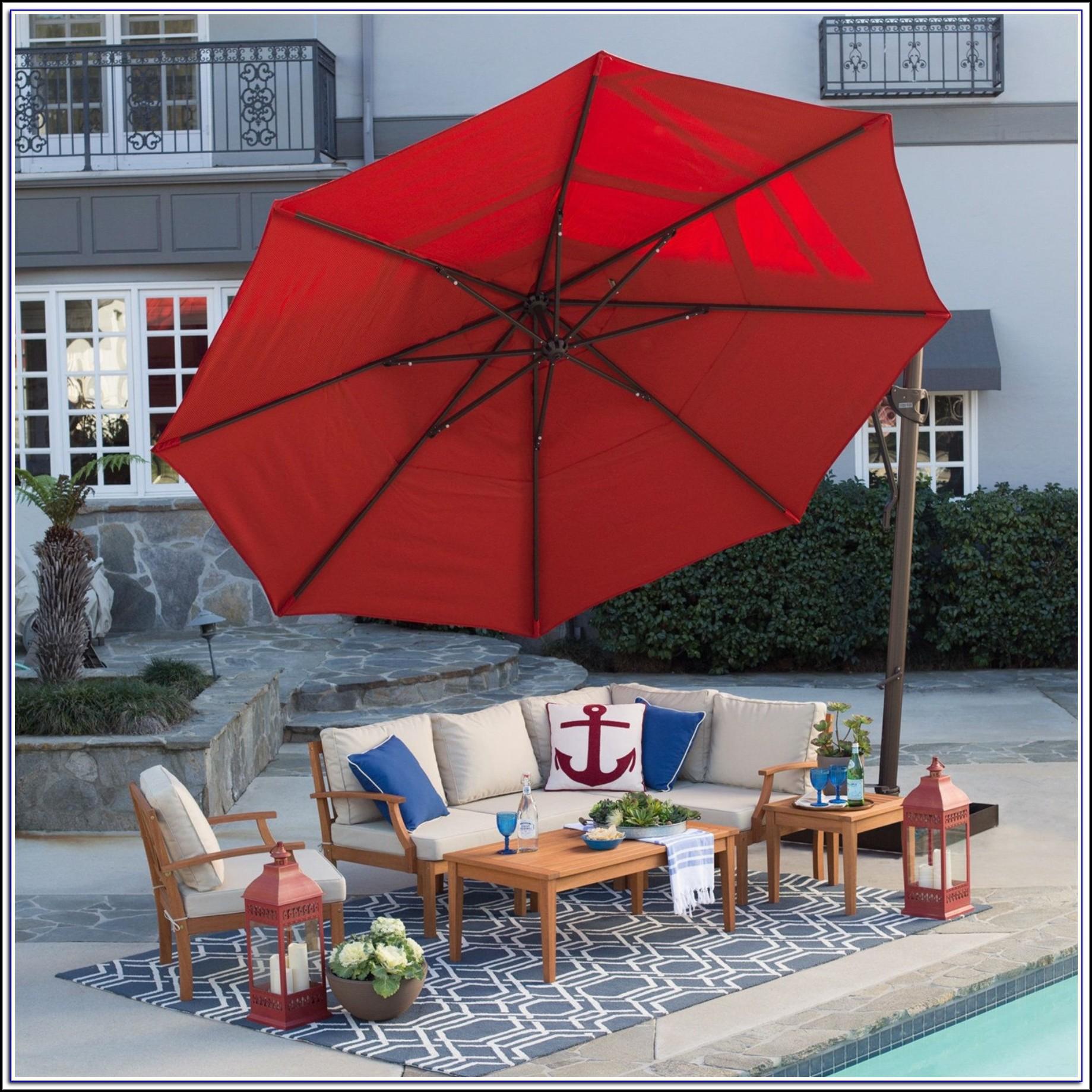 13 Foot Rectangular Patio Umbrella