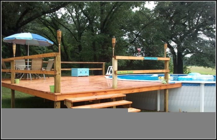 24 Round Above Ground Pool Deck Plans