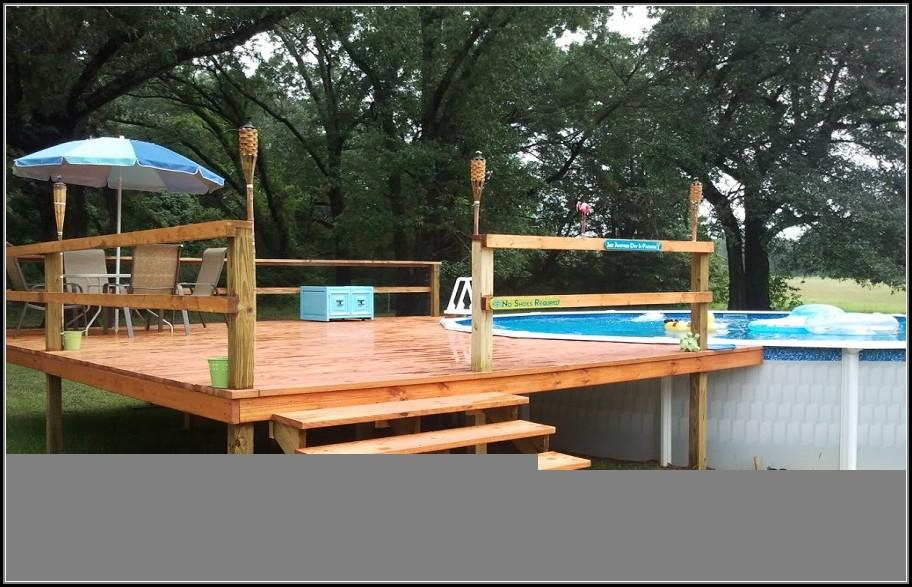 24 Round Above Ground Pool Deck Plans