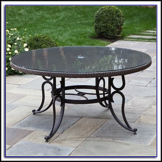 60 Inch Round Aluminum Patio Table