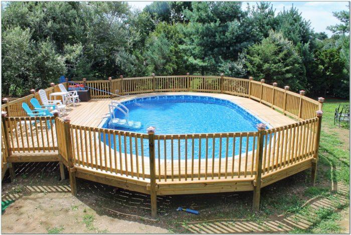 Above Ground Oval Pool Decks