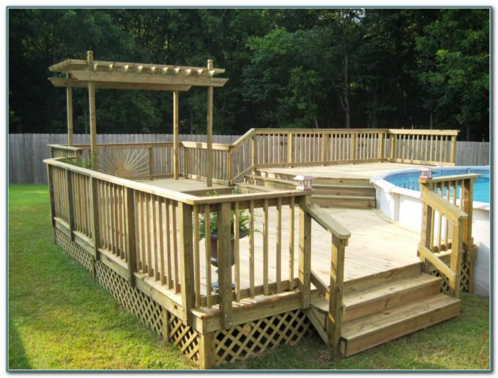 Above Ground Pool Deck Plans Online