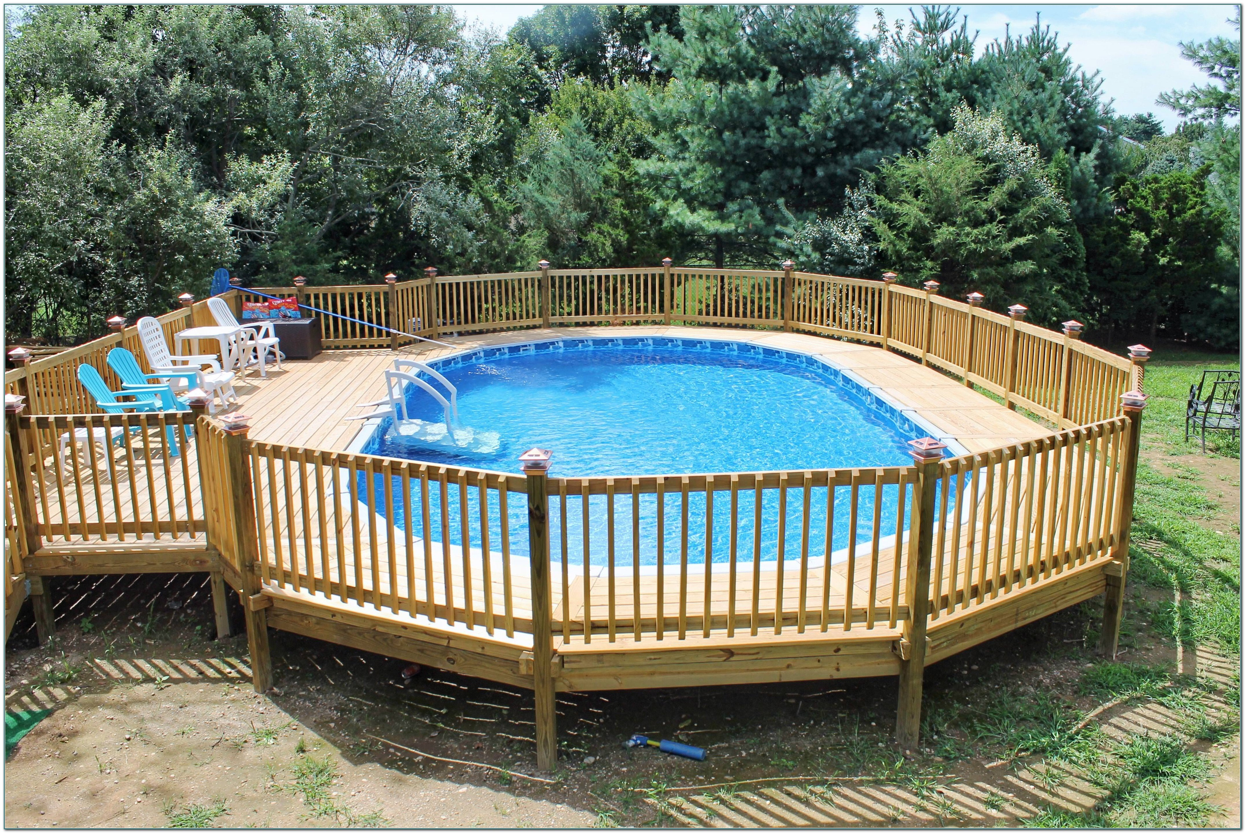 Above Ground Pool Deck Plans Pictures