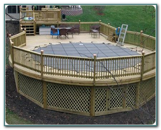 Above Ground Pool Deck Safety Fence