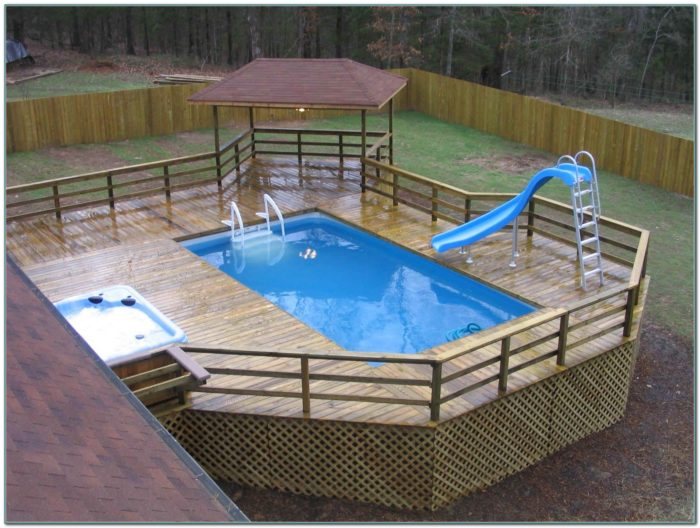 Above Ground Pool Decks And Fences