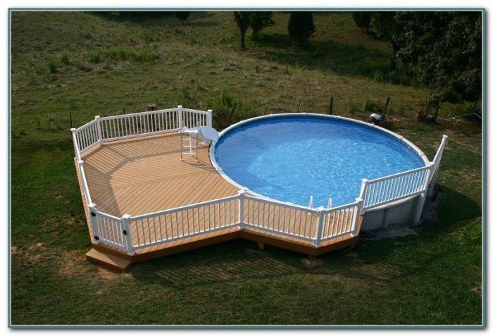 Above Ground Pool Decks Photos