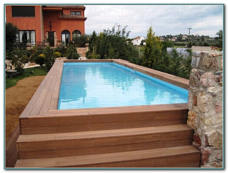 Above Ground Rectangular Pool With Deck