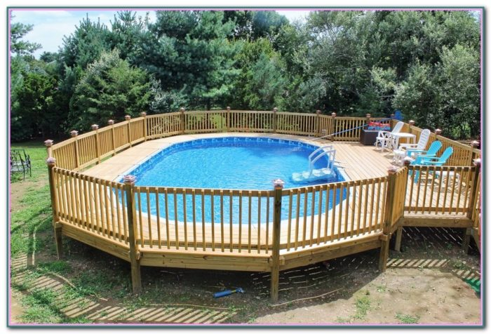 Above Ground Swimming Pool Decks Pictures