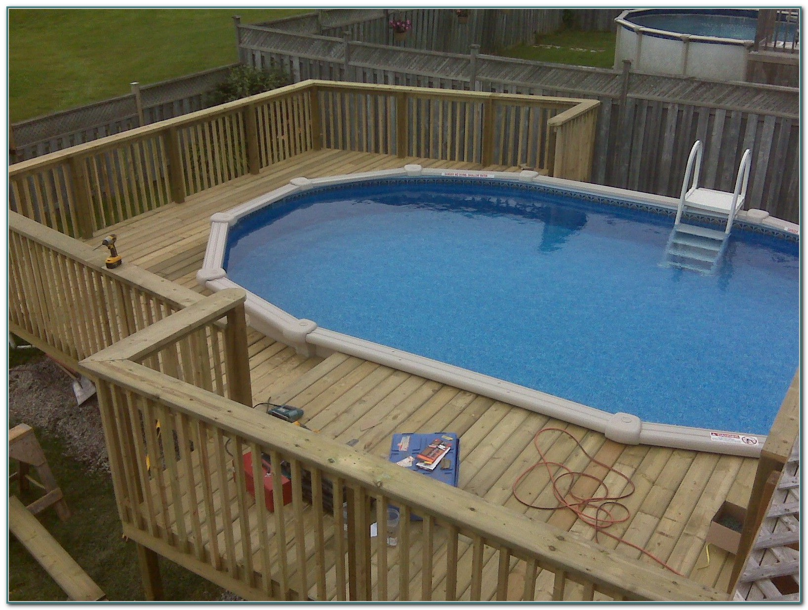 Above Ground Swimming Pools Decks Ideas