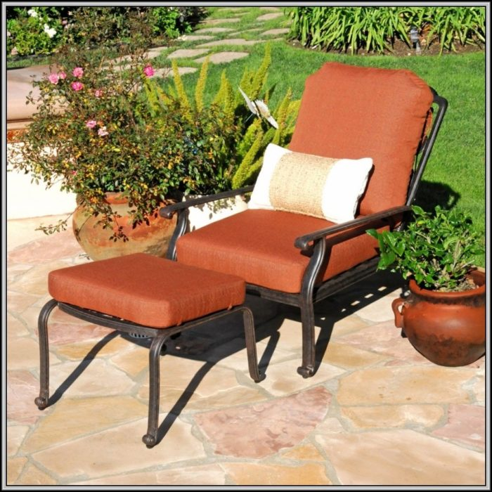 Adjustable Patio Chair With Ottoman