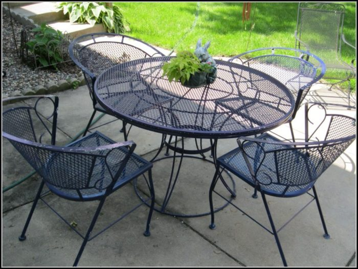 Antique Wrought Iron Outdoor Furniture