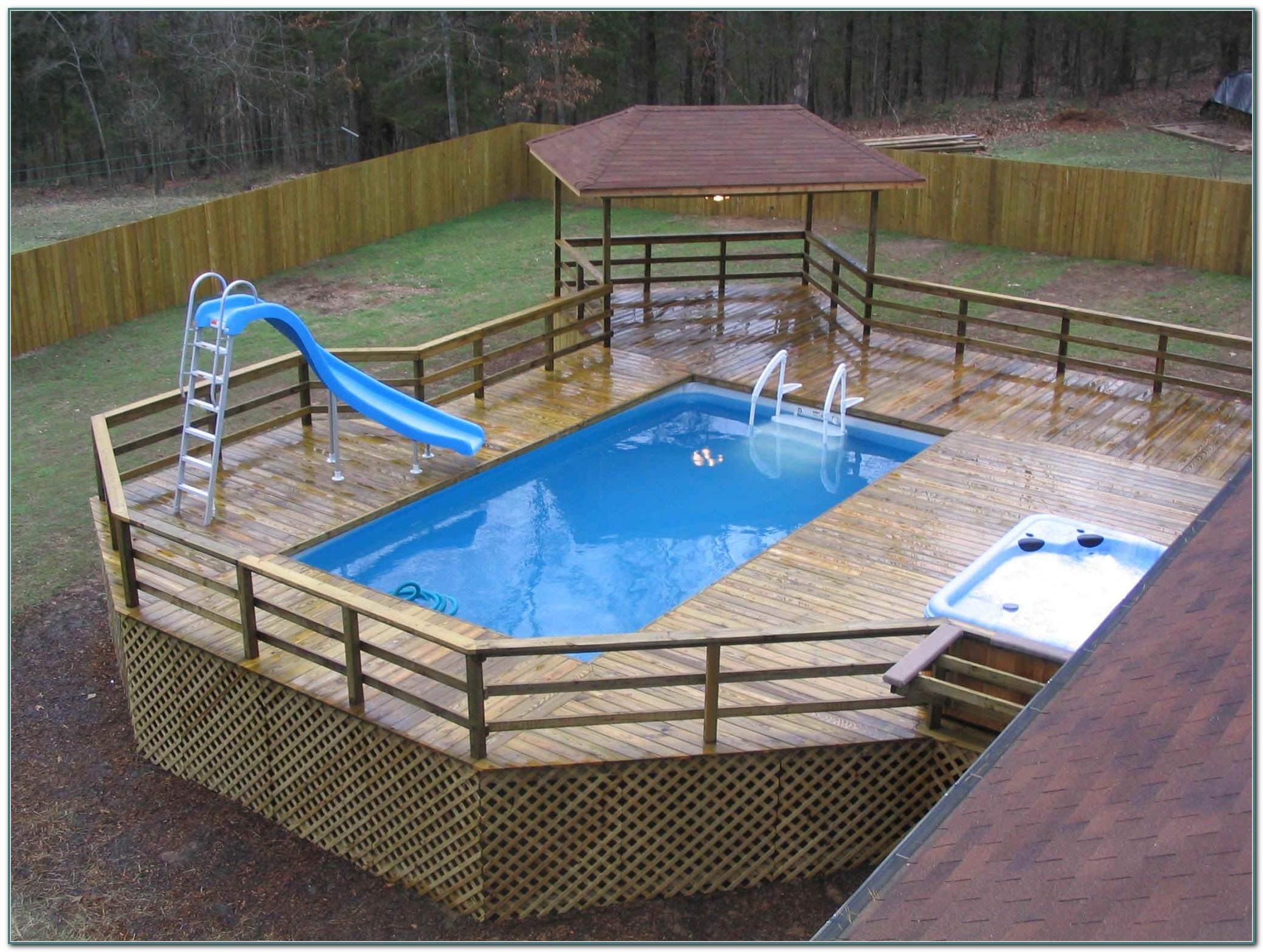 Backyard Above Ground Pool Deck Ideas