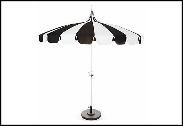 Black And White Pagoda Patio Umbrella