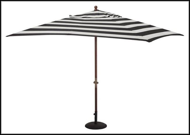 Black And White Striped Outdoor Patio Umbrella