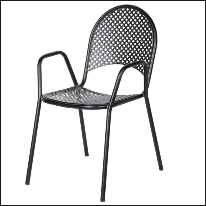 Black Metal Mesh Patio Chairs
