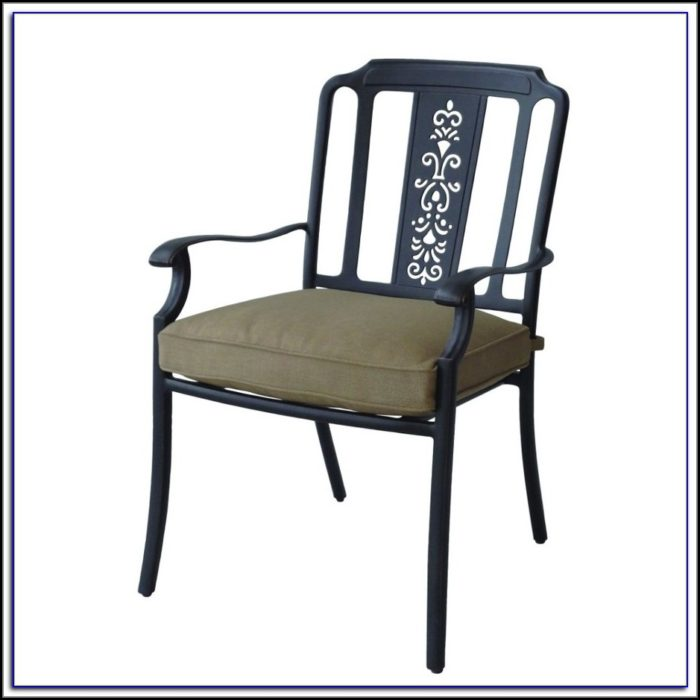 Black Metal Patio Dining Chairs