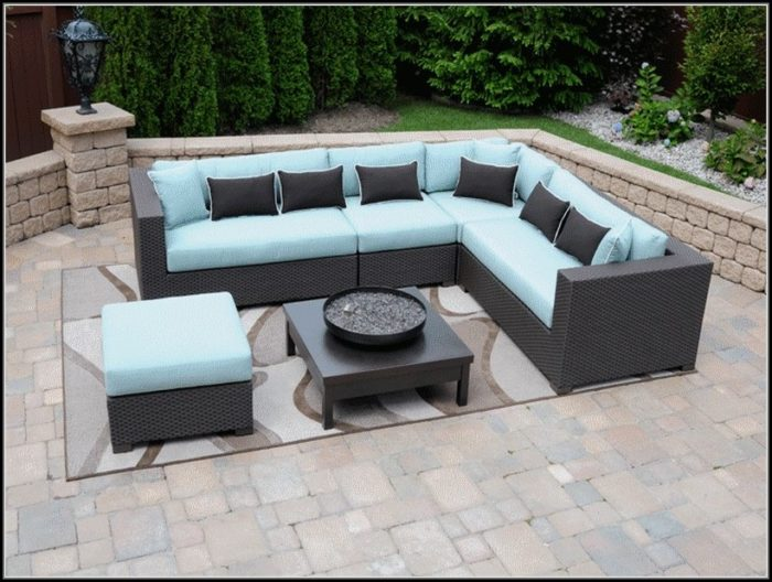 Black Wicker Sectional Patio Furniture