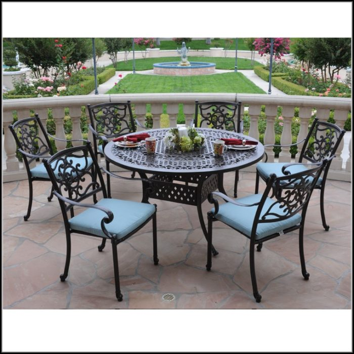 Cast Aluminum Patio Set Round