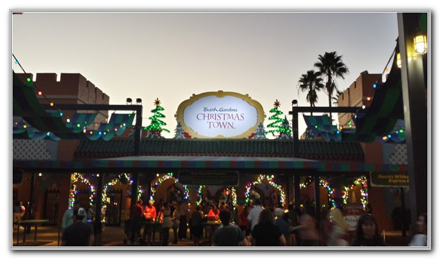 Christmas Town Busch Gardens Tampa 2013