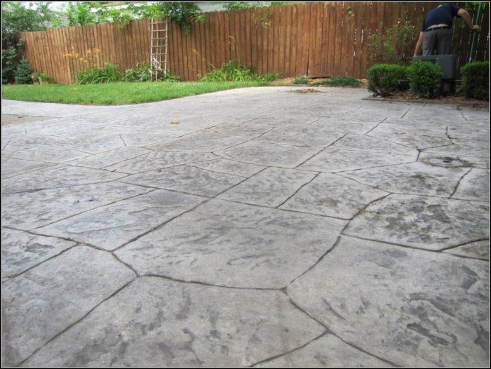 Concrete Patio Sealer Stamped