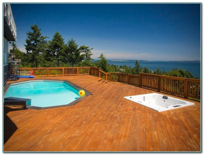 Custom Above Ground Pools With Decks