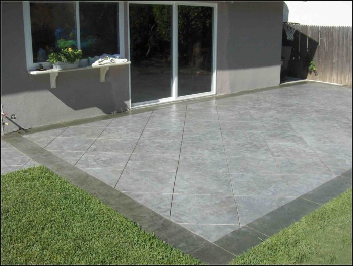 Decorative Concrete Patio Designs