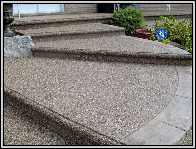 Exposed Aggregate Concrete Patio Ideas