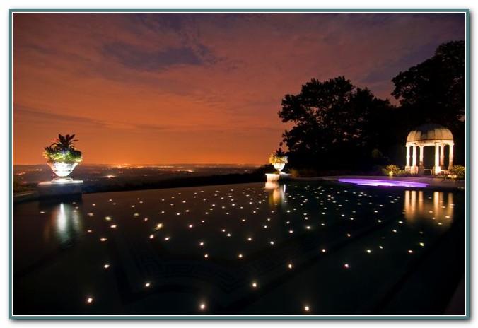 Fiber Optic Pool Lighting Installation
