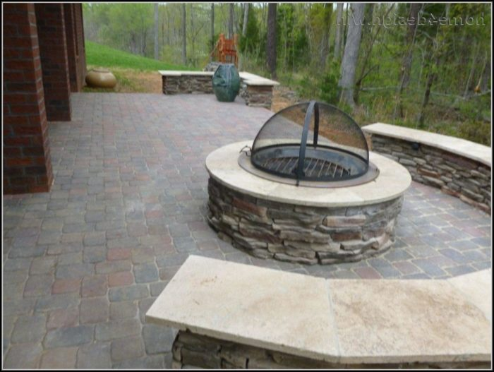 Flagstone Patios With Fire Pits