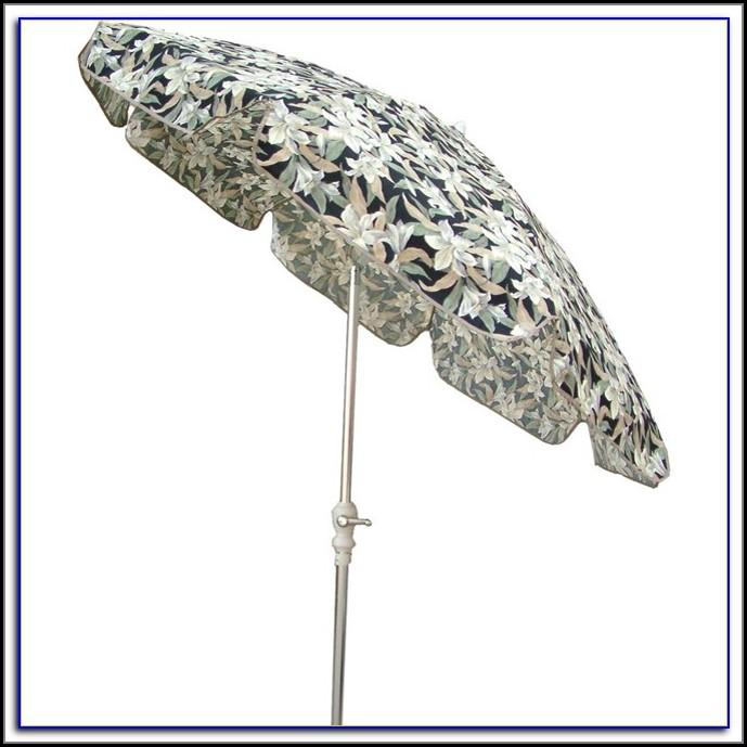 Floral Pattern Patio Umbrellas