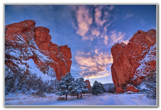 Garden Of The Gods Colorado Winter