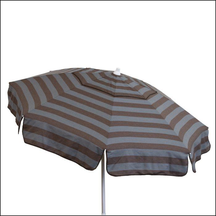 Grey Striped Patio Umbrella