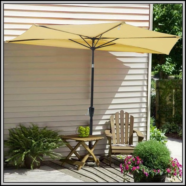 Half Patio Umbrella With Stand