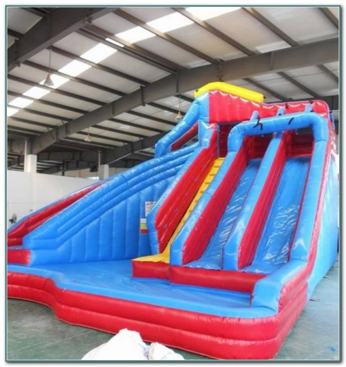 Inflatable Water Slides In Ground Pools