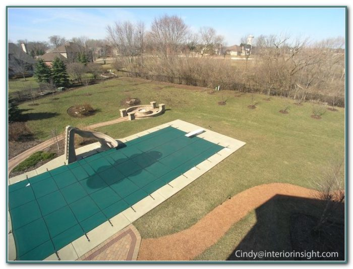 Inground Pool With Diving Board And Slide