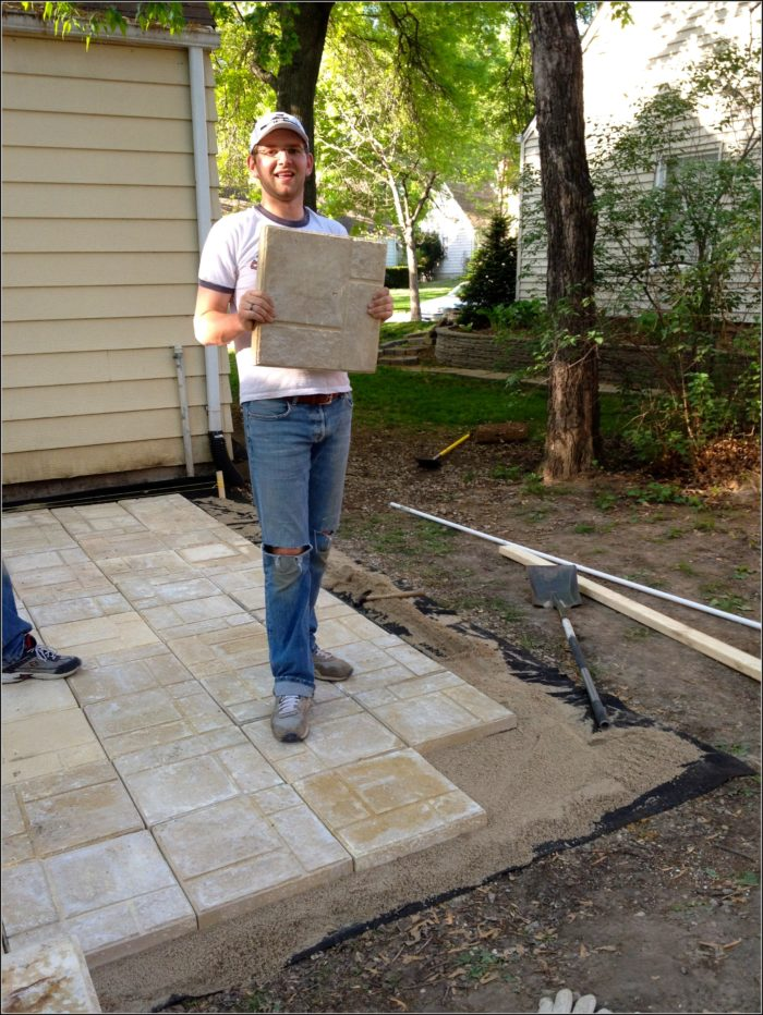 Installing Paver Patio Diy