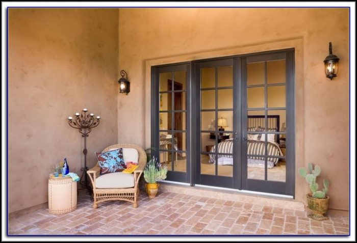 Sliding French Doors With Built In Blinds Patios Home