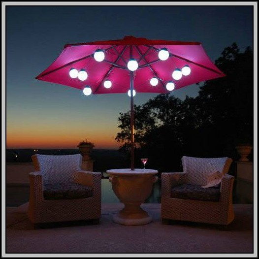 Led Patio Umbrella String Lights