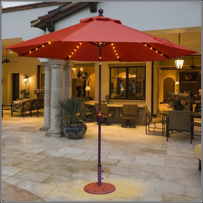 Lighted Umbrella Patio Furniture