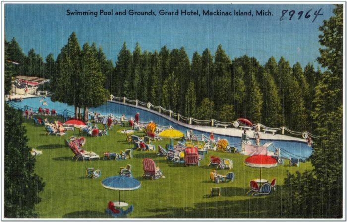 Mackinac Island Grand Hotel Pool