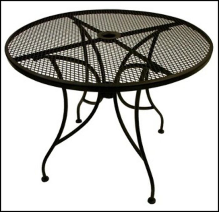 Metal Patio Table With Umbrella
