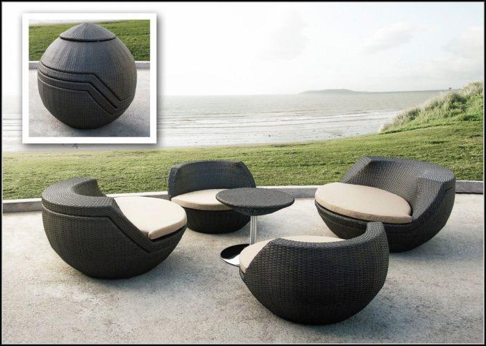 Modern Outdoor Wicker Furniture Set