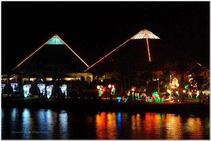 Moody Gardens Galveston Texas Festival Of Lights