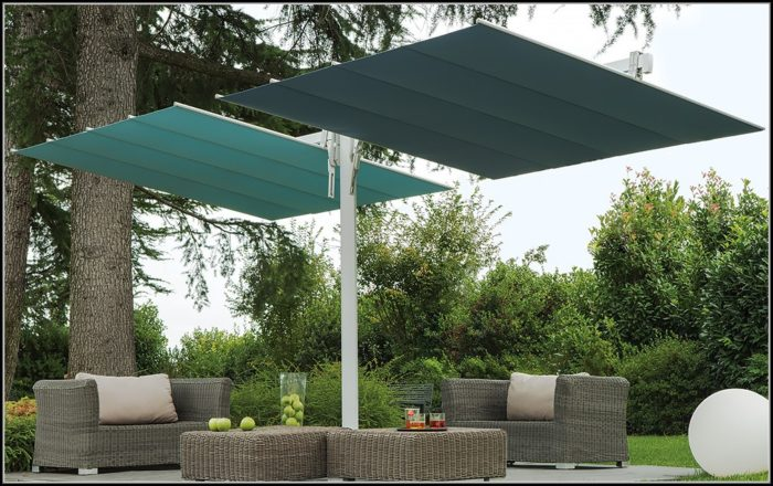 Offset Rectangular Patio Umbrella