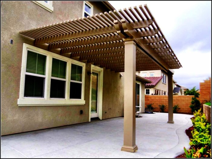 Open Lattice Patio Cover