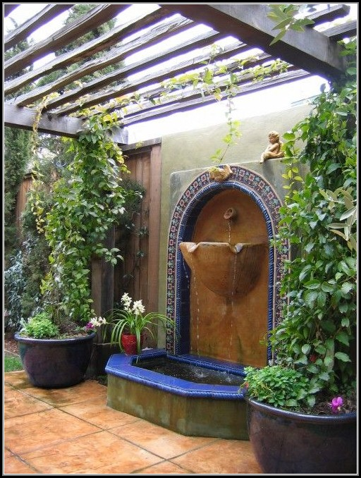 Outdoor Patio Fountain Ideas
