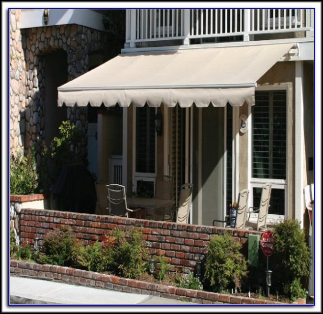 Outdoor Patio Retractable Awning Gray