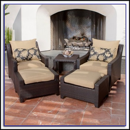 Outside Chair With Ottoman