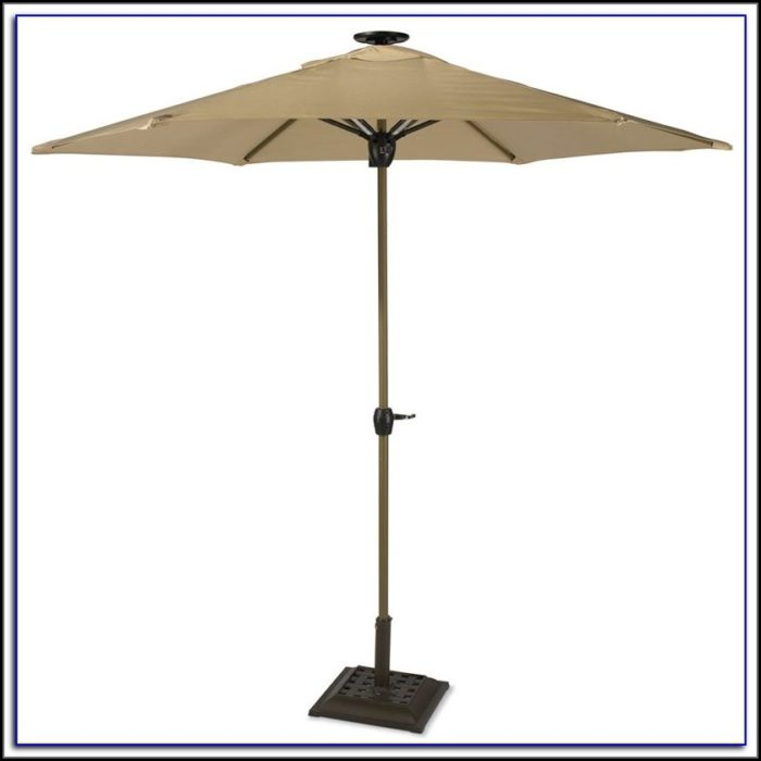 Outside Umbrella With Solar Lights
